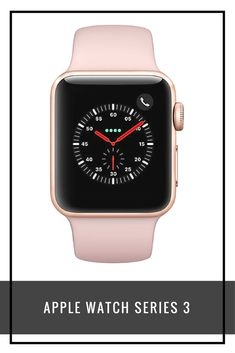 Apple Watch Series 3, GPS and Cellular, 38mm Gold Aluminium Case with Sport Band, Pink Sand  #workout #fullbodyworkout #bodyweightworkout #sportswear #exercise #flatbelly #toned #TECHNOLOGY #GADGETS