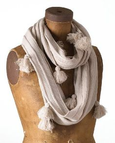 Fennco Lovely All Over Tassels Infinity Loop Scarf