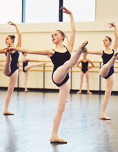Class at The American School of Ballet