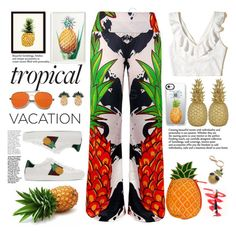 """fruit dely tropical"" by licethfashion ❤ liked on Polyvore featuring Frontgate, Gucci, Hollister Co., Goodnight Light, Casetify, New Directions and Anton Heunis"