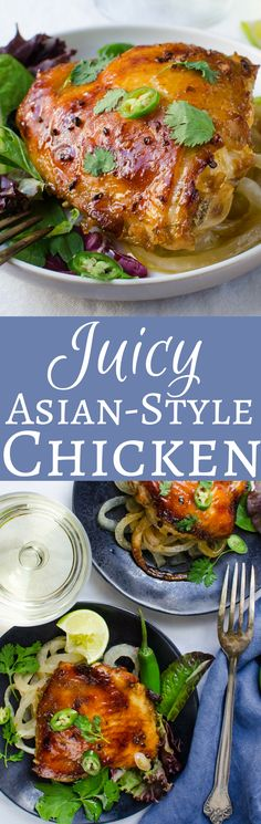 Juicy Asian-Style Chicken Thighs with a squeeze of lime