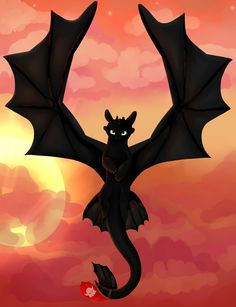 Sunset [How to train your dragon-Toothless]