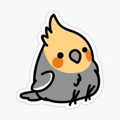 birdhism is an independent artist creating amazing designs for great products such as t-shirts, stickers, posters, and phone cases. Cute Animal Drawings Kawaii, Cute Little Drawings, Kawaii Drawings, Cartoon Drawings, Easy Drawings, Preppy Stickers, Kawaii Stickers, Anime Stickers, Cool Stickers