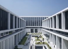 Gallery of China Southern Power Grid Green Campus Offices / von Gerkan, Marg and Partners Architects (gmp) - 5 © Christian Gahl University Architecture, Facade Architecture, School Architecture, Residential Architecture, Contemporary Architecture, Industrial Park, Factory Design, Building Facade, Facade Design