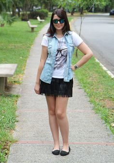 Look do dia: Colete jeans | Just Lia