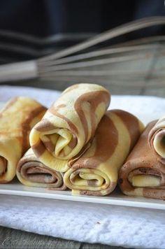 Crêpes tourbillon vanille et chocolat