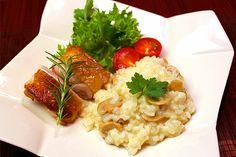 ■鶏肉レシピ■ 簡単♪チキンリゾット! マッシュルームたっぷり♪