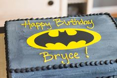 This Batman Birthday Cake was super easy to make using Sugar Sheets and my silhouette. You could probably hand cut it as well using a cardstock template.
