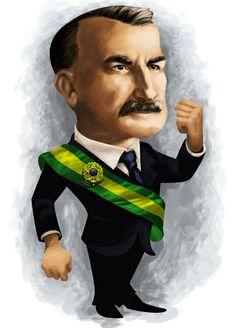 #Caricatura de #Delfim Moreira, presidente da República de 15/11/1918-28/07/1919.