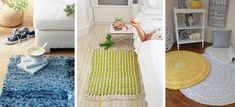 Porque ya viene el frío y sabemos que este tipo de decoración es algo cara, checa estas 10 fáciles y económicas alfombras que puedes hacer tú misma. Art Plastic, Diy Carpet, Kids Rugs, The Originals, Party, Ideas, Home Decor, Homemade Rugs, Diy Rugs