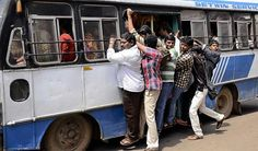 Commuters suffer as RTC buses in AP, Telangana go off roads Read complete story click here http://www.thehansindia.com/posts/index/2015-05-07/Commuters-suffer-as-RTC-buses-in-AP-Telangana-go-off-roads-149395