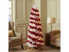 Pre-Lit Red & White Spiral Tree - 5.5'