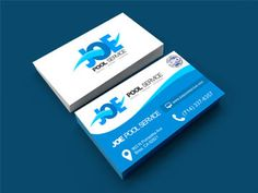 JOE POOL SERVICE #Logo #BusinessCard #Design
