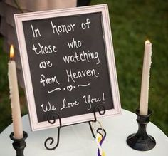 """"""" In honor of those who are watching from  Heaven. We love you!"""