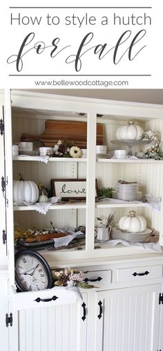 How to style a hutch for fall