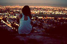 LOVE overlooking the city!