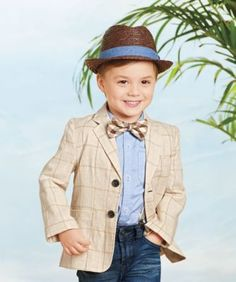 boys plaid blazer - A subtle woven plaid on linen lined with cotton -- a warm-weather blazer doesn't get much better than this.