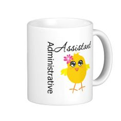 Cute Career Chick Administrative Assistant Coffee Mugs #administrativeprofessionalsday #appreciationmug #appreciationsgifts