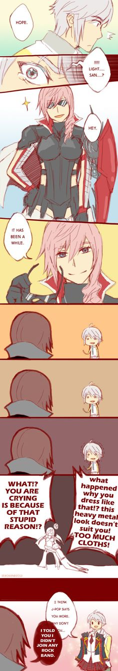 Lightning and Hope -- Lightning Returns comic strip -Lol I can totally see this happening- :)