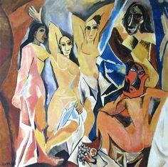 "Saatchi Art Artist Svetà Art; Painting, ""Picasso's Ladies from Avignon"" #art"