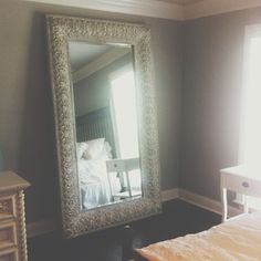 Bedroom ideas on pinterest bedroom colors ivory bedroom for 7 foot mirror