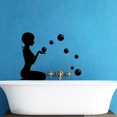 Stickers muraux pour salle de bain sticker mural - Sticker pour salle de bain ...