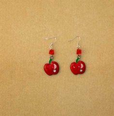 ShopHandmade - Red Apple Earring