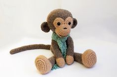 PATTERN : Monkey - Amigurumi Monkey-pattern - Crochet pattern-Knitted Stuffed…