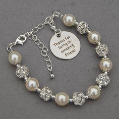 Friend Gift Friend Jewelry Best Friend Bracelet by AMIdesigns
