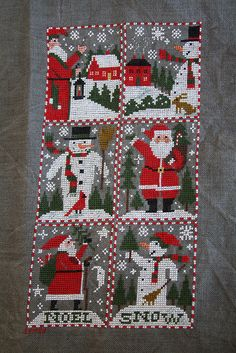 Santas and Snowmen; The Prairie Schooler designs.