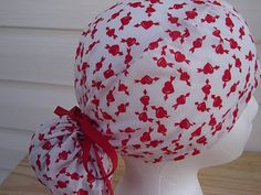 $13.99 This is a great scrub hat. It has fun RED HEARTS all over it that have been PIERCED BY AN ARROW! It is FUN and FRESH looking!It is t...