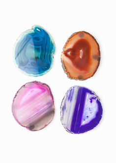 Agate Coasters - Assorted Colors by www.SoulMakes.com