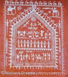 Museum of Tribal Art and Artefact, Bhubaneshwar, Odisha (India) Pichwai Paintings, Simple Canvas Paintings, Worli Painting, Art And Craft Videos, Indian Folk Art, Madhubani Painting, Beautiful Rangoli Designs, Art Corner, Diy Wall