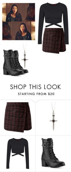 """""""Kira Yukimura - tw / teen wolf"""" by shadyannon ❤ liked on Polyvore featuring Boohoo and G by Guess"""