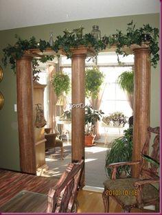 Tootsie's wonderful DIY pillars!
