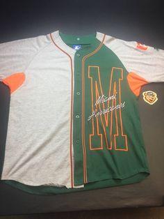 c42fa3973 Starter Vintage Mens XL Miami Hurricanes Button Down Starter Baseball Jersey  Size xl - Jerseys for. Grailed
