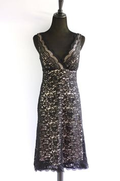 White House Black Market Black Lace Cocktail Dress - $49