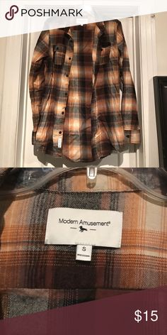 """Long Men's Pac Sun Button down Flannel 32"""" in length, washed but never worn. Nice thick flannel PacSun Shirts Casual Button Down Shirts"""
