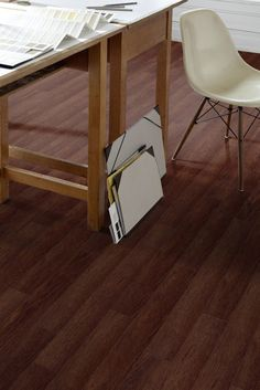 Creation 55 Luxury vinyl tile and plank flooring is available in wood, mineral, and urban effect that can enhance any interior flooring décor. Plank Flooring, Vinyl Flooring, Flooring Ideas, Luxury Vinyl Tile, Vinyl Tiles, Commercial Flooring, Wet Rooms, Home Office, Wood