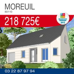 #Maison d'une surface de 135 m² comprenant 4 chambres, cuisine ouverte sur séjour et un garage à MOREUIL (80110) pour 218 725€ TTC*