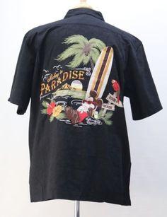 af12dbec Mickey in Paradise Hawaiian Men Shirt w/ Tags Disney Parks Black M Medium