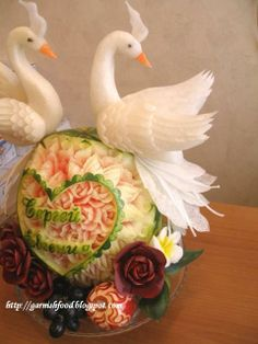 Food Vegetable Garnishes | Fruit Carving Arrangements and Food Garnishes