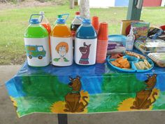 """I decorated the juice containers at my sons birthday party using my BIC Mark-It markers and blank paper! He called the flavors ""Scooby-Doo Blue"", ""Mystery Machine Green"", and ""Shaggy Orange"". Thanks BIC Mark-It and Smiley360!"" -Brittany  How else have you used your BIC Mark-It markers?"