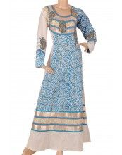 aljalabiya.com: 'Ocean Queen' Shantoon fabric patterned kaftan with embroidery on chest (N-13679-11)     $98.00   4 Review(s)  $89.00