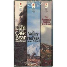 Earth's Children Series: Clan of the Cave Bear / Valley of the Horses / The Mammoth Hunters by Jean M. Auel - I read these books when I was a teenager. I Love Books, Great Books, Books To Read, Jean Auel, Cave Bear, Personal Library, Film Music Books, Any Book, Historical Fiction