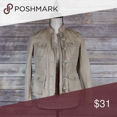 Ann Taylor denim thin jacket Ann Taylor Loft khaki denim thin jacket Ann Taylor Jackets & Coats