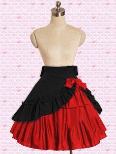 jupe noir et rouge a volants elegante lolita EGL EGA > JAPAN ATTITUDE - VETEGJ009   Shop : www.japanattitude.fr