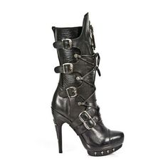 PUNK GOTHIC BLACK BOOTS WITH HIGH HEEL AND 5 BUCKLES. http://www.tribugotica.com/en/new-rock-womens-boots/121-punk-gothic-black-boots-high-heel.html?utm_campaign=crowdfire&utm_content=crowdfire&utm_medium=social&utm_source=pinterest