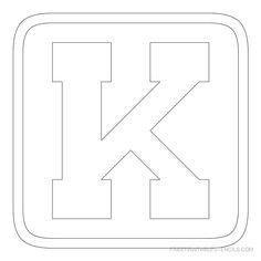Free Printable Alphabet Stencils  Printable Block Letter Stencils