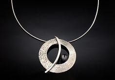 The+Balance+Orbit+Necklace by Chi+Cheng+Lee: Silver+&+Stone+Necklace available at www.artfulhome.com
